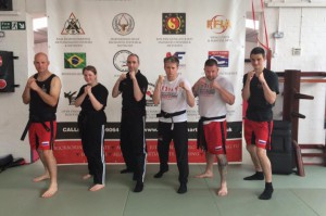 Laurence Sandums Black Belt Jun Fan Kickboxing Grading