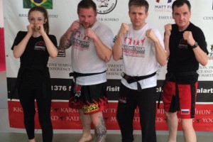 Laurence Sandums Black Belt Kickboxing Grading