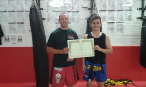jun fan and muay thai black belts